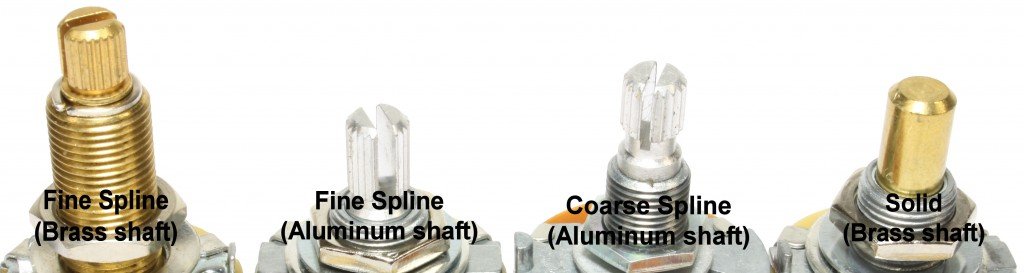Fine, coarse and solid shaft examples