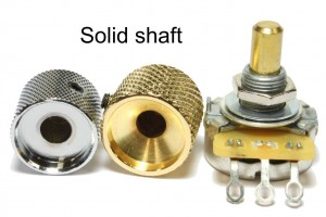 Dome knob and solid shaft examples