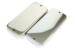 Nickel and Chrome Pickup covers