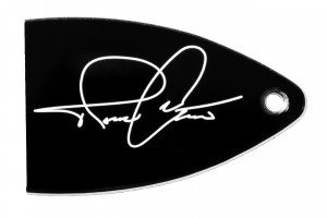 Signature on PRS truss rod cover