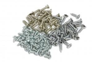 Nickel Chrome and Zinc screws