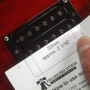 Checking the pole spacing of the bridge pickup
