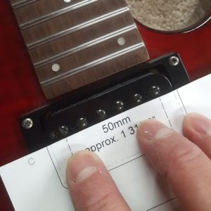 Checking pole spacing of the neck pickup