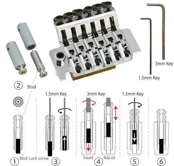 GOTOH Stud-Lock Bridge Posts